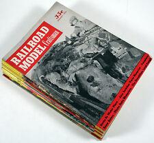 LOT OF 20 VINTAGE RAILROAD MODEL CRAFTSMAN MAGAZINES - 1953 THRU 1957 EXC!