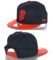 San Francisco Giants Black Alt Vintage Retro New Era 9FIFTY MLB Snapback Hat