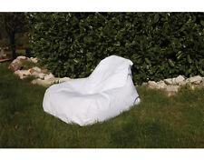 Chillout Pouf Sac assise fauteuil, Blanc, 300L
