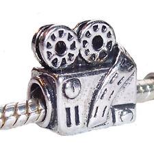 Retro Movie Projector Film Movie Theater Bead for Silver European Charm Bracelet