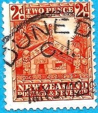 Wharenui NZ New Zealand Maori House Longhouse Tekoteko Teko Teko