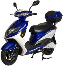 X-Treme Cabo Cruiser Electric E Bike Moped 20 Amp Battery System Blue NEW