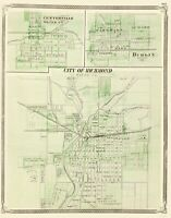 Centreville Dublin Richmond Indiana - Baskin 1876 - 23.00 x 29.37