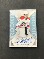 2015-16 UPPER DECK THE CUP NOAH HANIFIN ROOKIE AUTO PATCH SILVER #ed 23/249