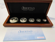 Libertad Set Siegesgöttin Mexiko - 999/1000 Silber Set 5 Münzen - Proof – 2011