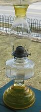 VINTAGE MASSIVE SEWING LAMP KEROSENE #2 BRASS INSERT COLLAR #2 EAGLE BURNER