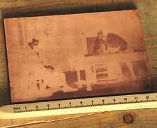 Galvano Druckstock Kupferklischee Druckplatte Druckerei Bleisatz Drucker Druck