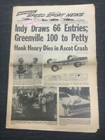 April 17, 1968 - NASCAR - USAC - INDYCAR - Speed Sport News Newspaper