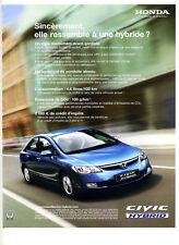 2007 : Voiture Civic Hybrid – Honda (publicity, advertising), (pub395)