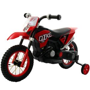 MOTO MOTORE MOTOCROSS CROSS ELETTRICO PER BAMBINI LUCI LED E SUONI CLACSON