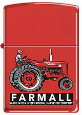 Farmall International Harvester Super M Red American Tractor Zippo Lighter