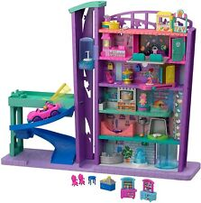 Polly Pocket Mega Mall With 6 Floors Vehicle Elevator and Micro Dolls