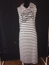 Super-Dry Hoodie Women Gritty-Stripe Dress ~ Size S ~