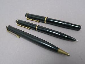 Pelikan Set M250 Druckbleistift Minen Kugelschreiber Füllhalter schwarz 3tlg