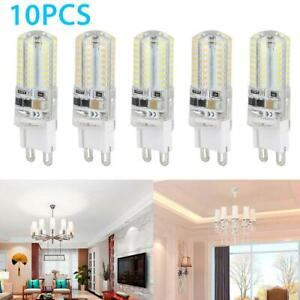 10 Pack LED G9 Warm/Daylight White LED Corn Bulb Lamp Light 120V AC 5W US