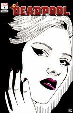 Deadpool #1 Blank Variant w/ painted sketch of Scarlett Johansson as Black Widow