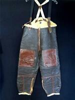VERY RARE VINTAGE 1940'S WWII BROWN LEATHER FLIGHT PANTS TYPE B-1 SIZE A