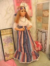 "Eyelet Blouse & Print Skirt, Panties by Sso Doll Clothes fit Ideal 21"" Harmony"