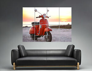 Vespa Px 125 Vintage Sunset Wall Art Poster Great Format A0 Wide Print