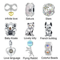 925 Silver DIY Beads And Charms Sterling Silver Pendants Fit Bracelet For Women