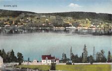 Gaspé, Québec, Canada Waterfront View ca 1910s Vintage Postcard