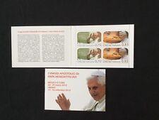Timbres Poste Neufs Vatican Carnet adhésifs Voyage Pape Benoit XVI 2012
