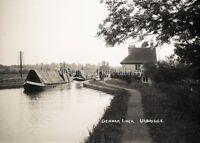 GN 618 PHOTOGRAPH DENHAM LOCK CANAL, BARGE SCENE UXBRIDGE c 1914