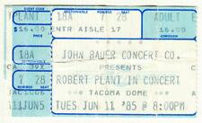 Robert Plant in Concert Original 6/11/1985 Tacoma Dome Ticket Stub led zeppelin