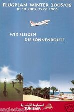 Airline Timetable - Tunisair - 30/10/05 - German Edition - S