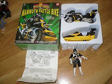Power Rangers Mighty Morphin Original mamnoth Battle Bike Rare jouet + Bonus fig