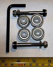 Replacement Luggage Wheel ABEC-9 bearings (4), bushings (4) & axles (2), DIY kit