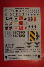 BUYNOW Citadel Decals / Warhammer 40K IMPERIAL GUARD TANK / VEHICLE TRANSFERS