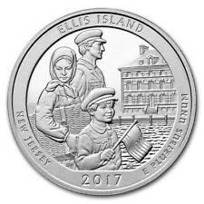 2017 Silver 5oz Ellis Island 999 Coin with Capsule ATB America The Beautiful