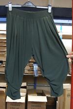 Joseph Ribkoff BNWT 10 Excellenmt Dark Green Stretch Jersey Ruche Leg Leggings