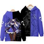 Genshin Impact Hoodie Diluc Klee Keqing Print Pullover Jacket Hoodie Sweatshirt