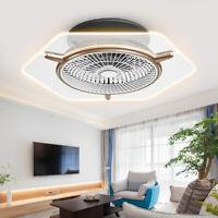 Ceiling Fan LED Transparent Light 3 Color Change Lamp Dimmable+Remote Control