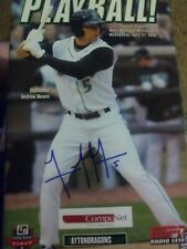 Andrew Means Signed Dayton Dragon Game Program 4/21/2010 Cincinnati Reds Auto