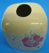 Vintage Springs Lemonade Yellow Floral Bath Tissue Box Cover Holder