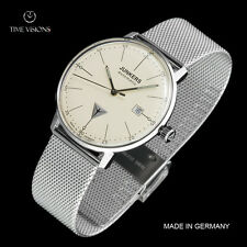 Junkers 40mm Bauhaus German Made Swiss Sellita SW200 Automatic Mesh Strap Watch
