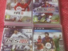 BUNDLE OF FOUR PS3 FOOTBALL GAMES FIFA 11+13,PES 11+12 FREE DELIVERY SONY PLAYST