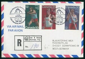 MayfairStamps Canada 1976 Montreal Games Track & Field Cover wwp80671