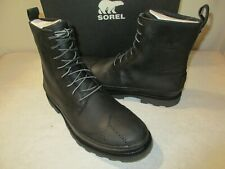 NEW Men's SOREL Madson Wingtip WP Winter Boots, Black, Sz 11.0 M, $230