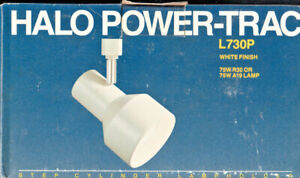 Halo Power-Trac L730P White Finish Step Cylinder Lampholder Fixtures FREE SHIP