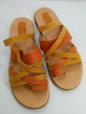Korks by Kork Womens Size 10 Leather Strappy Toe Sandals Flats