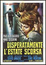 DISPERATAMENTE L'ESTATE SCORSA MANIFESTO CINEMA CASARO PITAGORA 1970 POSTER 2F