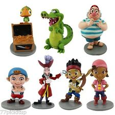 Jake & Neverland Pirates Cake Topper Playset 7pcs Figures Toy Doll Set **U.S.A**