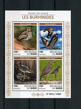Niger 2015 MNH Burhinidae 4v M/S Fauna Birds Thick-Knees Stone Curlews Stamps