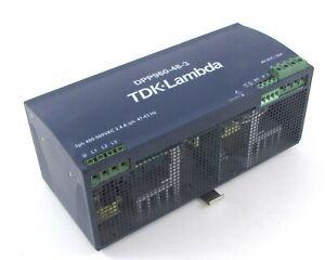 TDK-Lambda DPP960-48-3 Din Rail Mountable Switching Power Supply 400-500 VAC