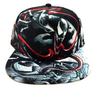 MARVEL COMICS VENOM SUBLIMATED ALL OVER PRINT CHARACTER COLLAGE SNAPBACK HAT CAP