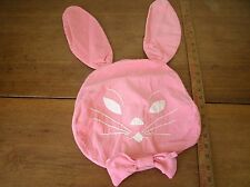 Handmade Pink Bunny Rabbit Pillow Cover embroidered applique (R8)